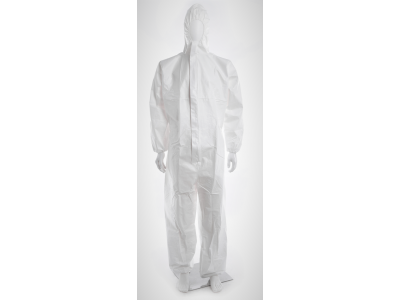 INP disposable coverall white, non-woven, XXL