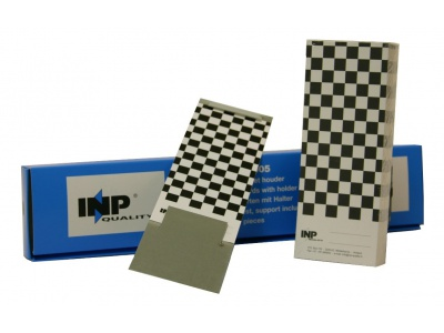 Paper spray sample cards with metal card holder