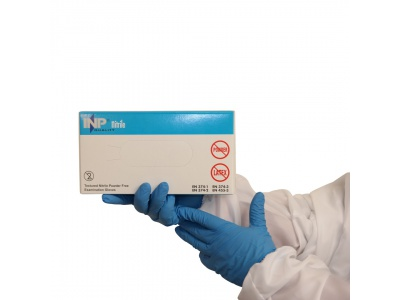 INP nitrile gloves, powder free, size L