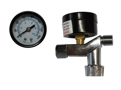 Pressure gauge, with regulator