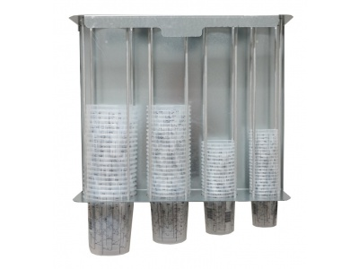 Wall dispenser for all 4 sizes of Supercup mixing cups