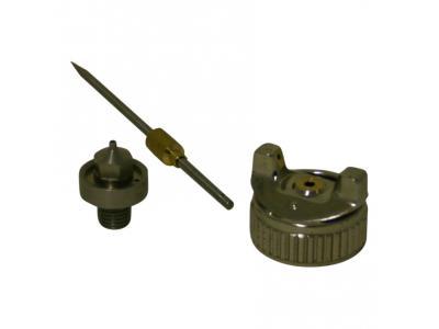 2 x 1.7 mm boquilla de acero inoxidable 2 x 2.0 mm ECD Germany 2 x pistola de pulverizaci/ón HVLP aguja de boquilla de 1,4 mm sistema de pulverizaci/ón de pintura con vaso de pl/ástico de 600 ml