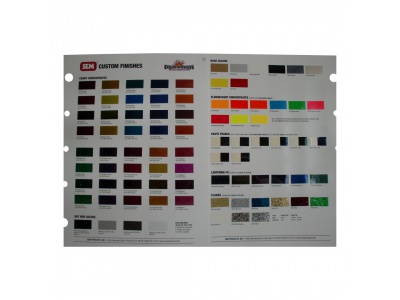 Carta de colores Custom Finishes