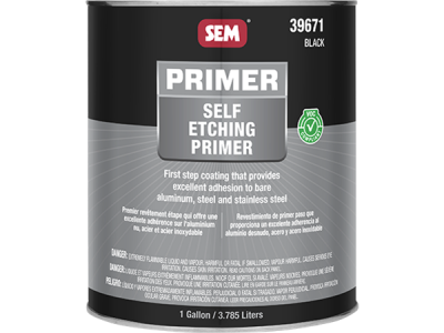 Self Etching Primer - Black - 3,8 ltr